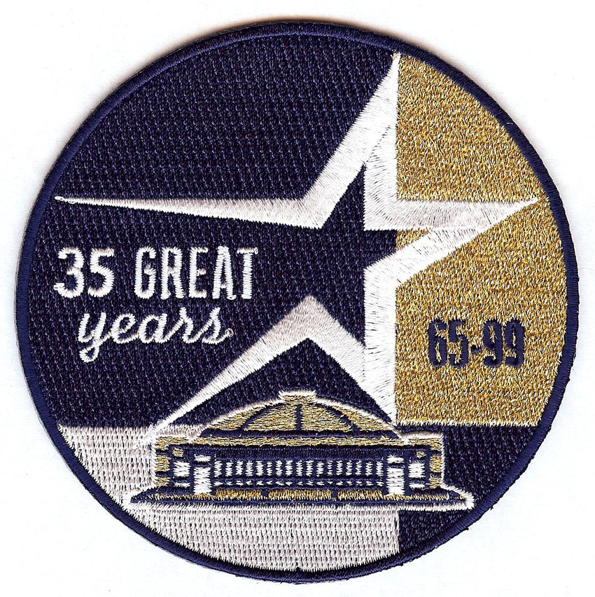Houston Astros 35 Year Anniversary Astrodome Patch