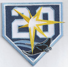 Tampa Bay Rays 20th Anniversary Patch