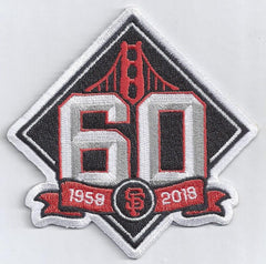 San Francisco Giants 60th Anniversary Patch