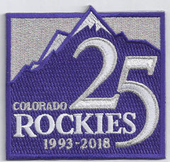 Colorado Rockies 25th Anniversary Patch