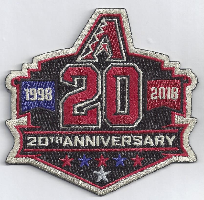 Arizona Diamondbacks 20th Anniversary Patch