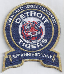 Detroit Tigers 1968 World Series Champions 50th Anniversary Patch