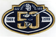 San Diego Padres 50th Anniversary Patch (2019)