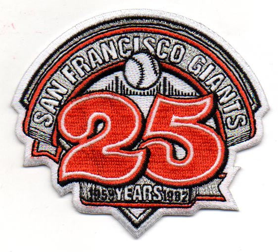 San Francisco Giants 25th Anniversary Patch