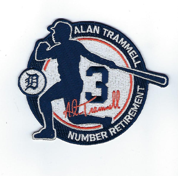 Alan Trammell Number 3 Retirement FanPatch