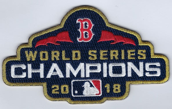 Boston Red Sox Gold World Series Champions Patch