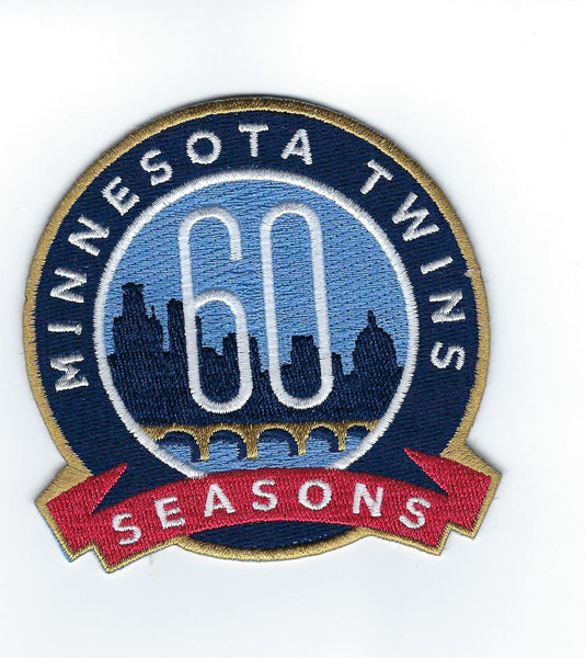Minnesota Twins 60th Anniversary Patch