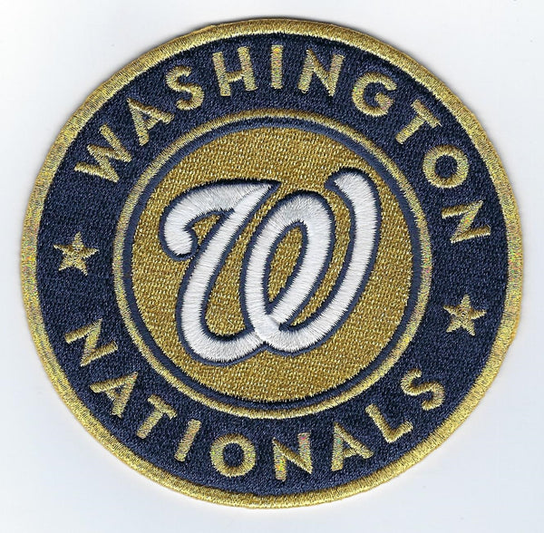 Washington Nationals Gold Sleeve Patch