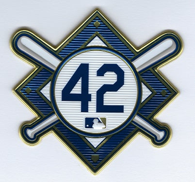 Jackie Robinson Commemorative 42 EmbossTech Patch (Royals 2021)