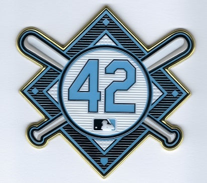 Jackie Robinson Commemorative 42 EmbossTech Patch (Rays 2021)