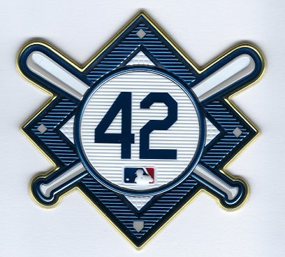 Jackie Robinson Commemorative 42 EmbossTech Patch (Dodgers 2021)