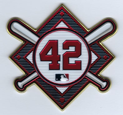 Jackie Robinson Commemorative 42 EmbossTech Patch (Braves 2021)