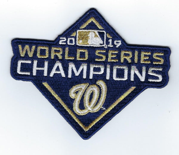 Washington Nationals Gold World Series Champions Patch