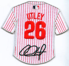 Chase Utley Jersey Patch with signature