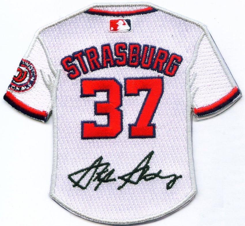 Stephen Strasburg jesery patch with signature