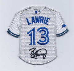 Bret Lawrie Jersey Patch with Signature