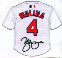 Yadier Molina Jersey Patch with Signature