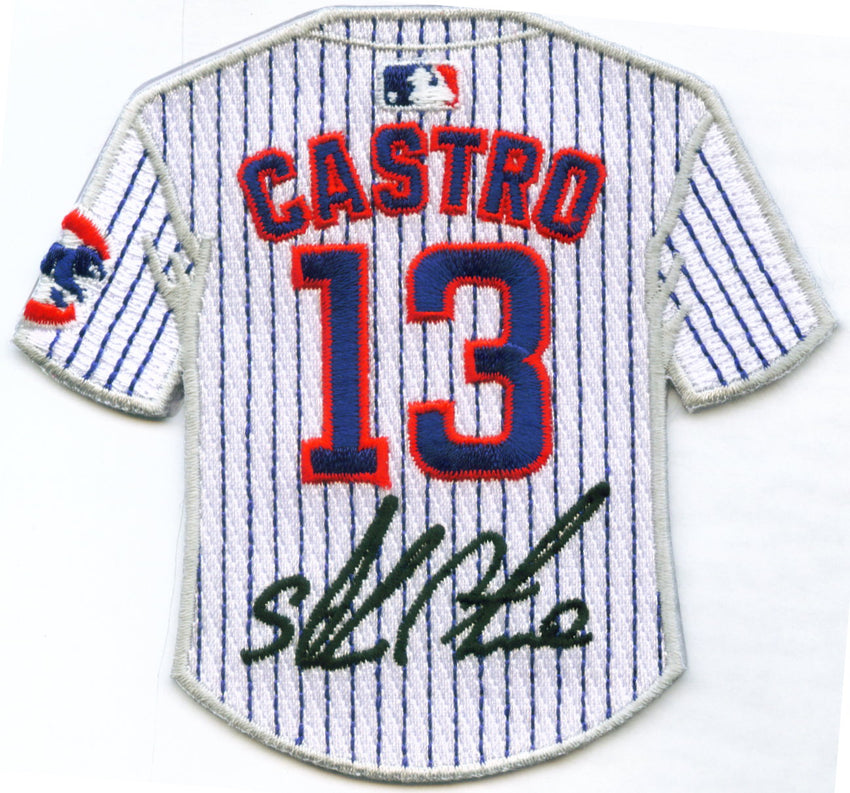 Starlin Castro Jersey Patch with signature