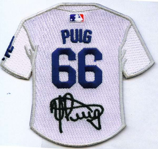 Yasiel Puig Jersey Patch with Signature