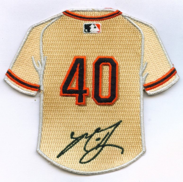 Madison Bumgarner Jersey Patch with Signature