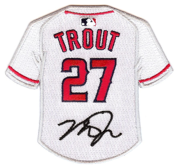 Mike Trout Jersey Patch With Signature