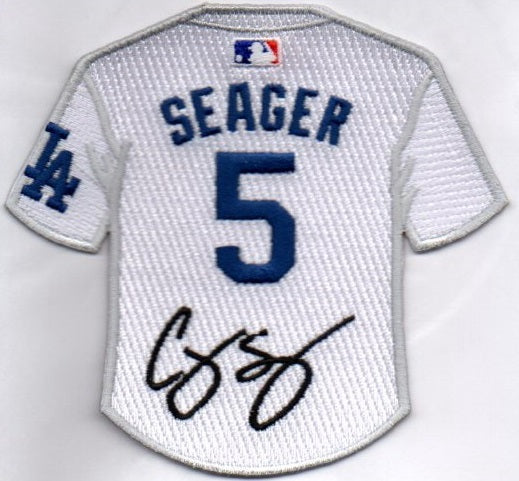 Corey Seager Jersey Patch with Signature