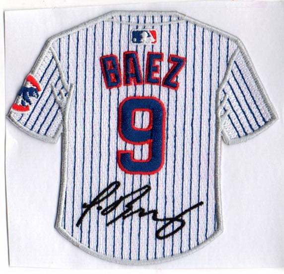 Javier Baez Jersey Patch with Signature