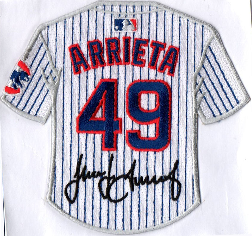 Jake Arrieta Jersey Patch with Signature