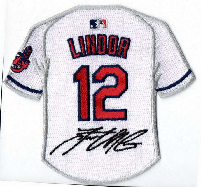 Francisco Lindor Jersey Patch with Signature