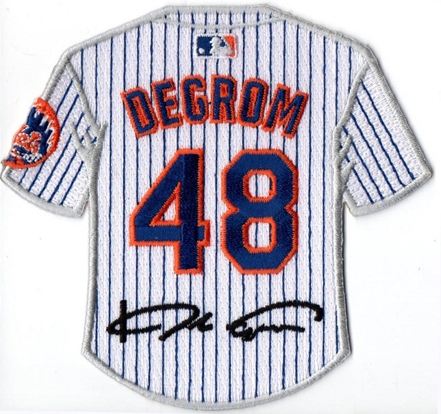 Jacob DeGrom Jersey Patch with Signature