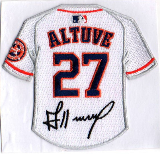 Jose Altuve Jersey Patch with Signature
