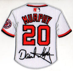 Daniel Murphy Jersey Patch with Signature