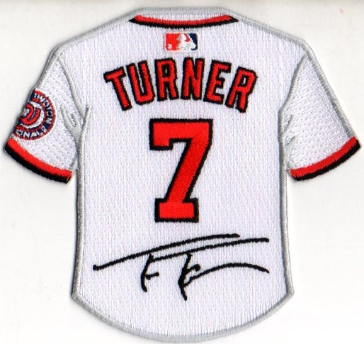 Trea Turner Jersey Patch with Signature