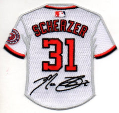 Max Scherzer Jersey Patch with Signature