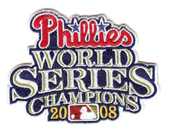 Philadelphia Phillies 2008 World Series Champions Patch (Script)