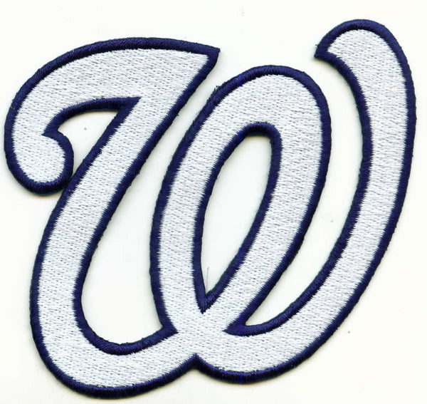 "Washington Nationals ""W"" Hat Logo Patch"