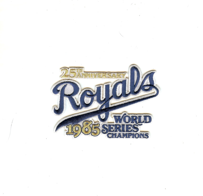 Kansas City Royals 1985 World Series 25th Anniversary Patch