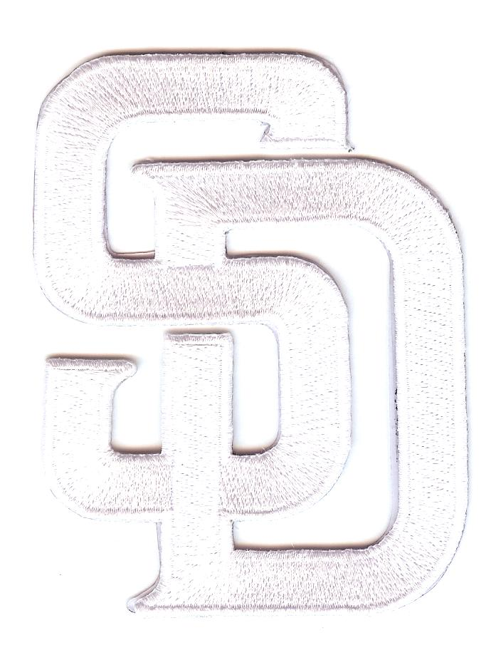 "San Diego Padres White ""SD"" Home / Road Hat Logo"