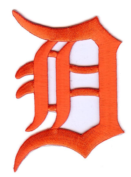 Detroit Tigers Primary Logo Patch (Orange)
