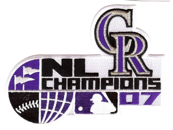 2007 Colorado Rockies National League Champions Patch