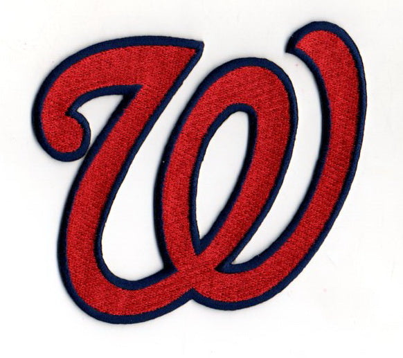 "Washington Nationals ""W"" Hat Logo Patch (Red)"