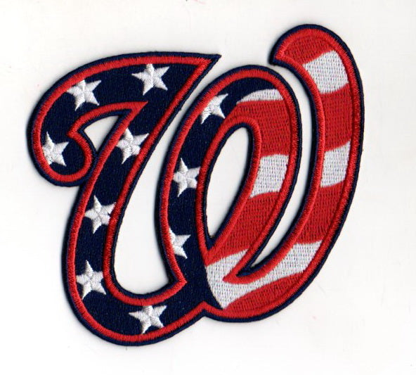 "Washington Nationals ""W"" Hat Logo Patch (Stars & Stripes)"