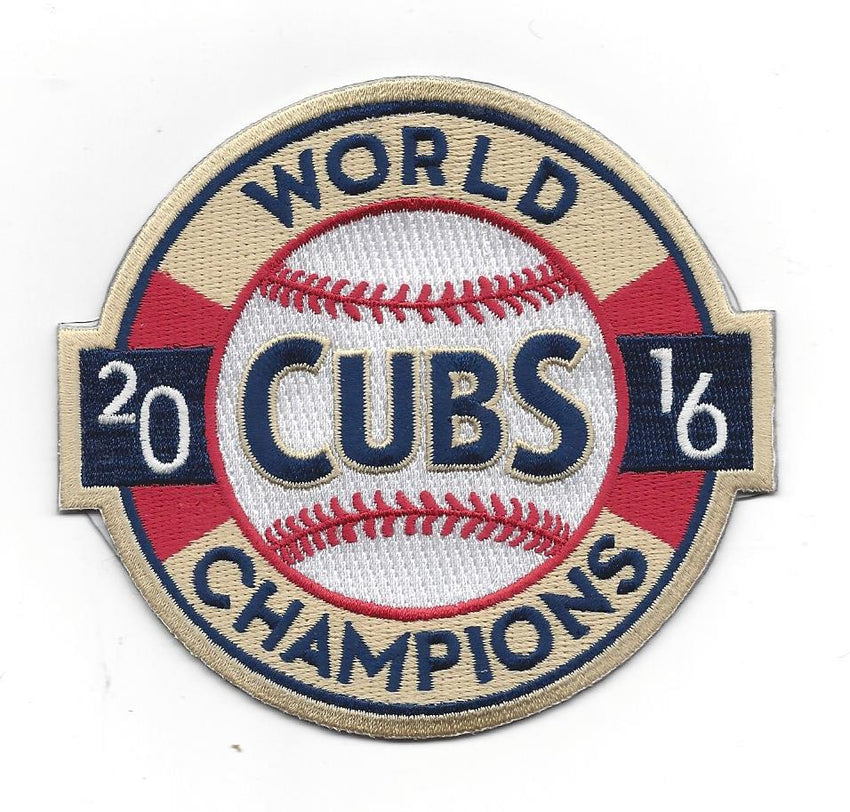 Chicago Cubs 2016 World Champions Patch