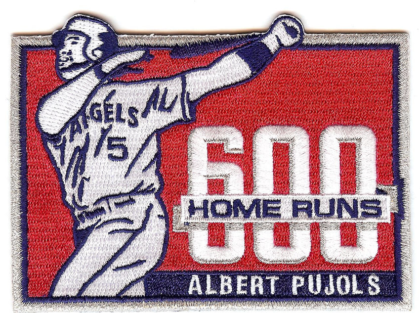 Albert Pujols 600 Home Runs Patch
