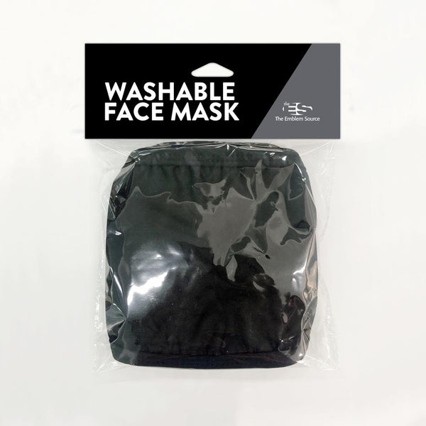 Washable Face Mask 3-Pack - Two Black Masks and One Grey Mask