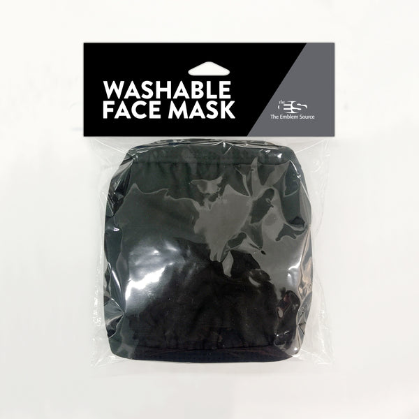 Black Washable Face Mask 3-Pack