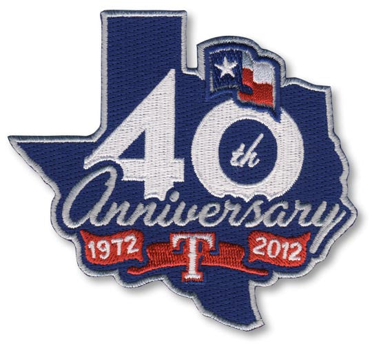 Texas Rangers 40th Anniversary Patch