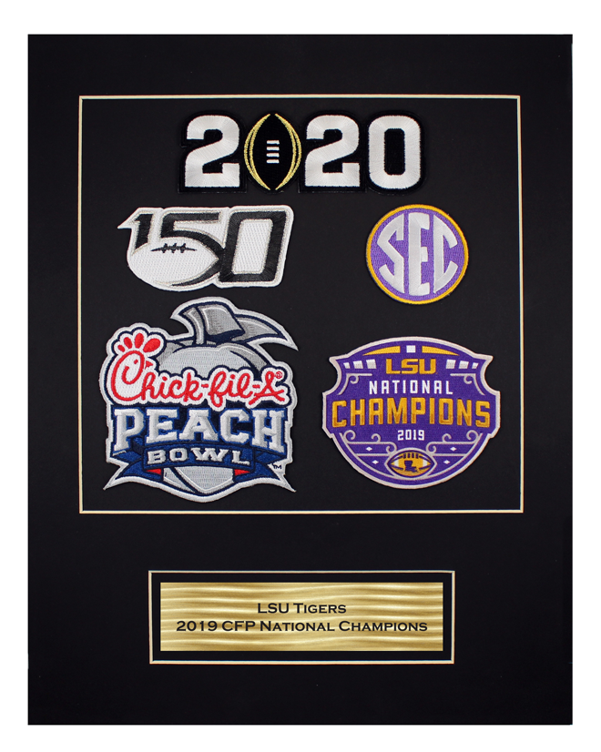 2019 CFP National Champions Matted Piece