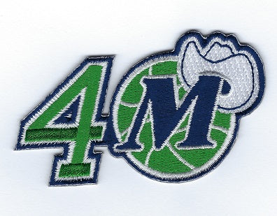 Dallas Mavericks 40th Anniversary Patch
