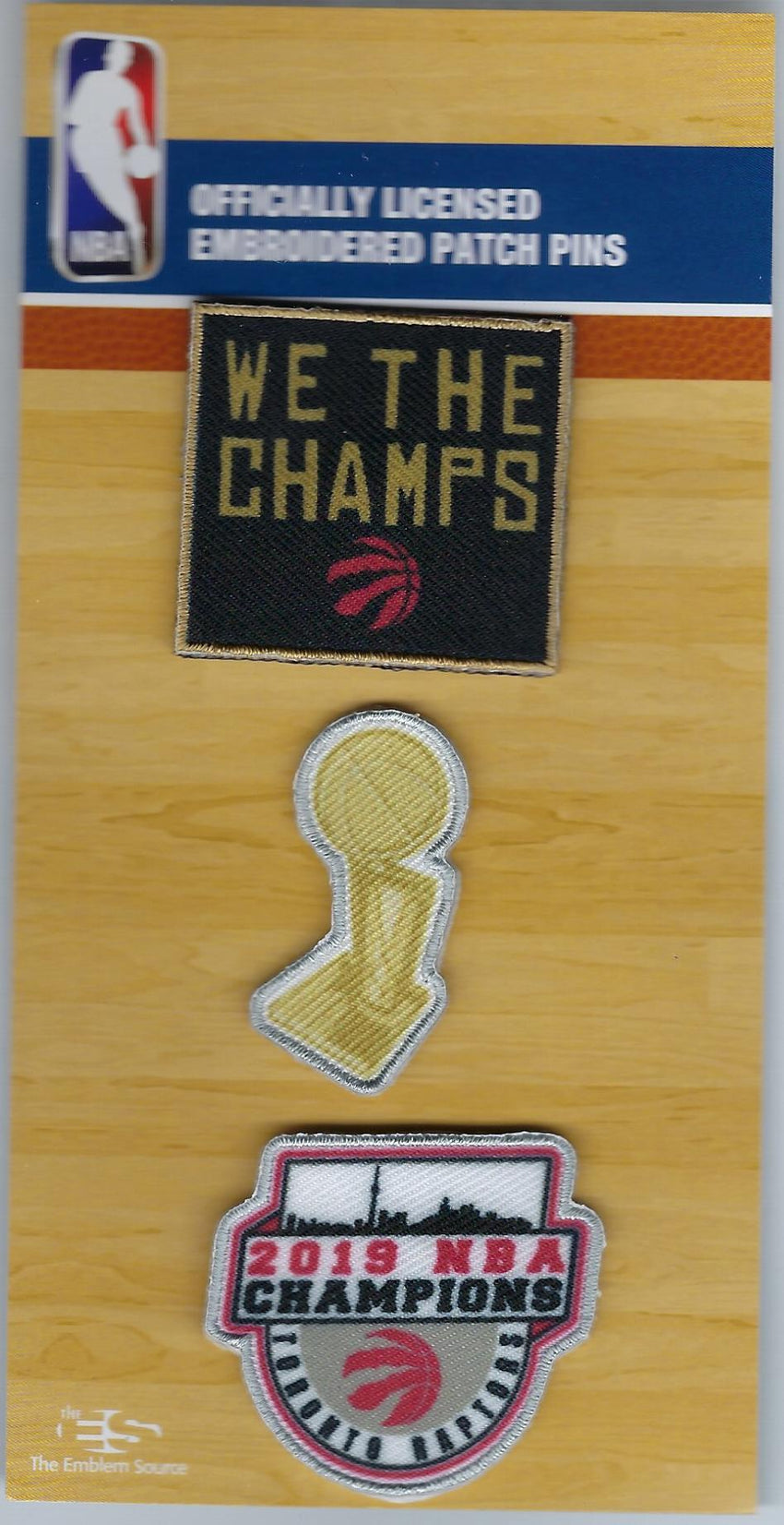 Toronto Raptors We the Champs PatchPins